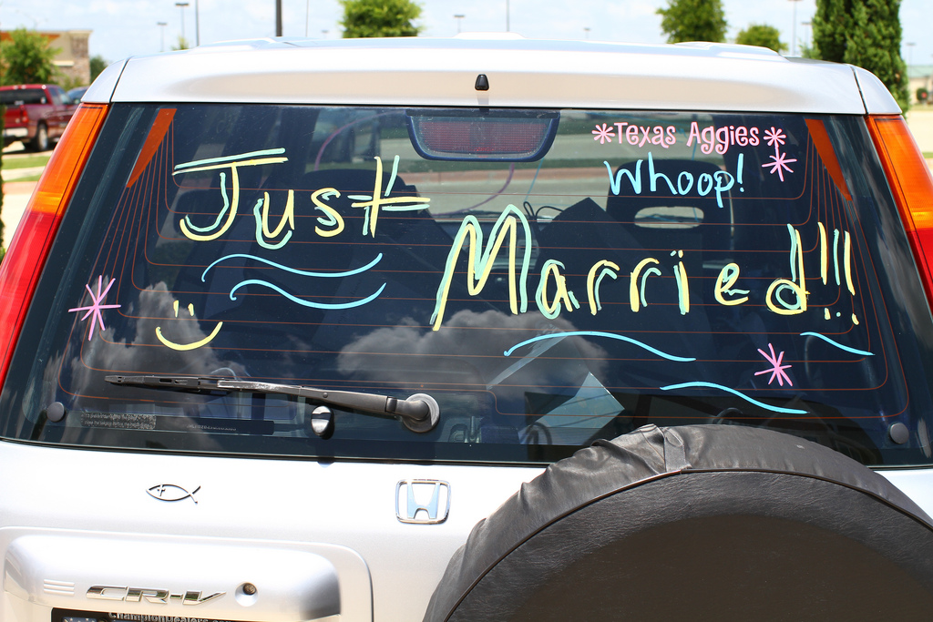 Just married car signs wedding day online - Just married decorations for car ...